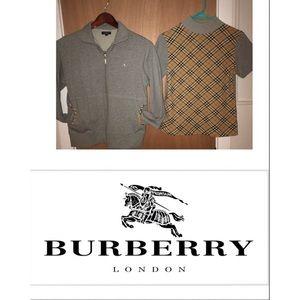 2pc Burberry Jacket & Nova sweater Set Fits Small
